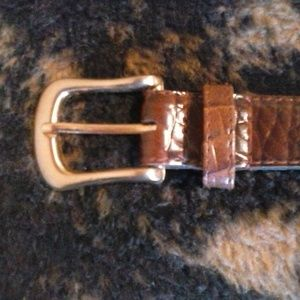 Accessories - WOMEN'S BROWN TEXTURED BELT with GOLD BUCKLE